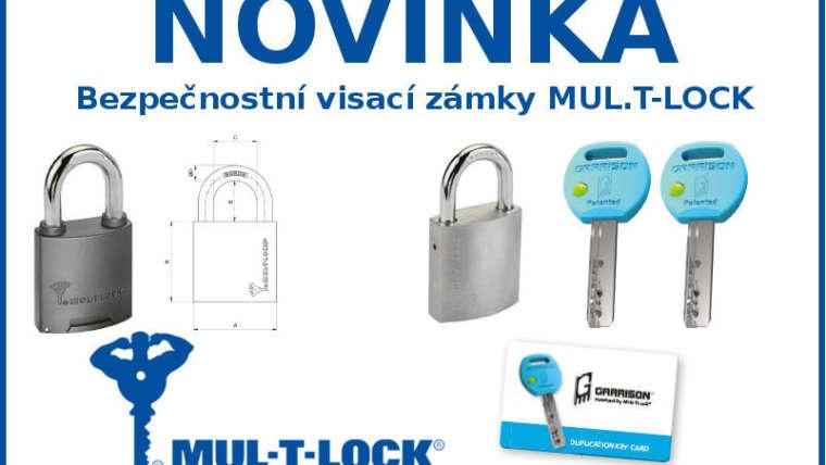 Bezpečnostní visací zámky MUL-T-LOCK za skvělou cenu